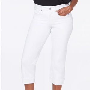 NYDJ Optic White Straight Marilyn Jeans 26W